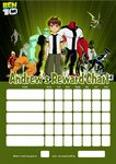 Personalised Ben 10 Reward Chart (adding photo option available)